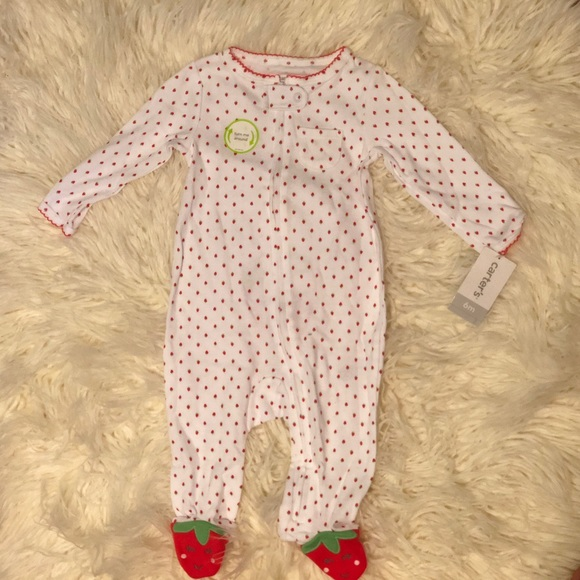 2d424cb3f Carter's Pajamas | Carters Strawberry Footed Size 6 Months | Poshmark